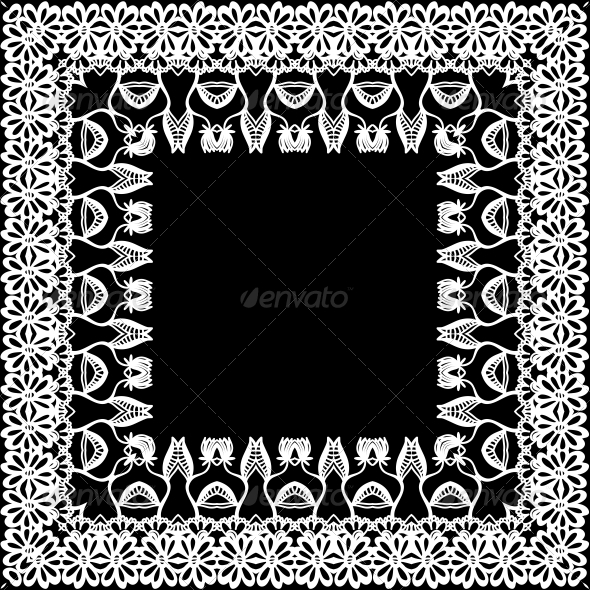 Floral Border, Frieze, Frame - Patterns Decorative