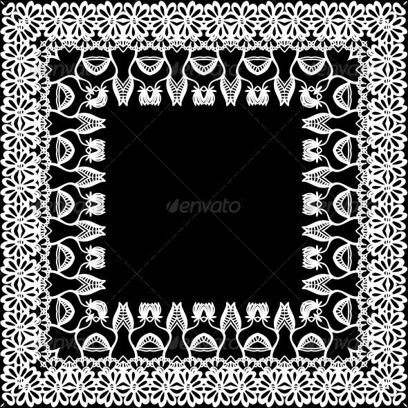 Floral Border, Frieze, Frame - Patterns Decorative