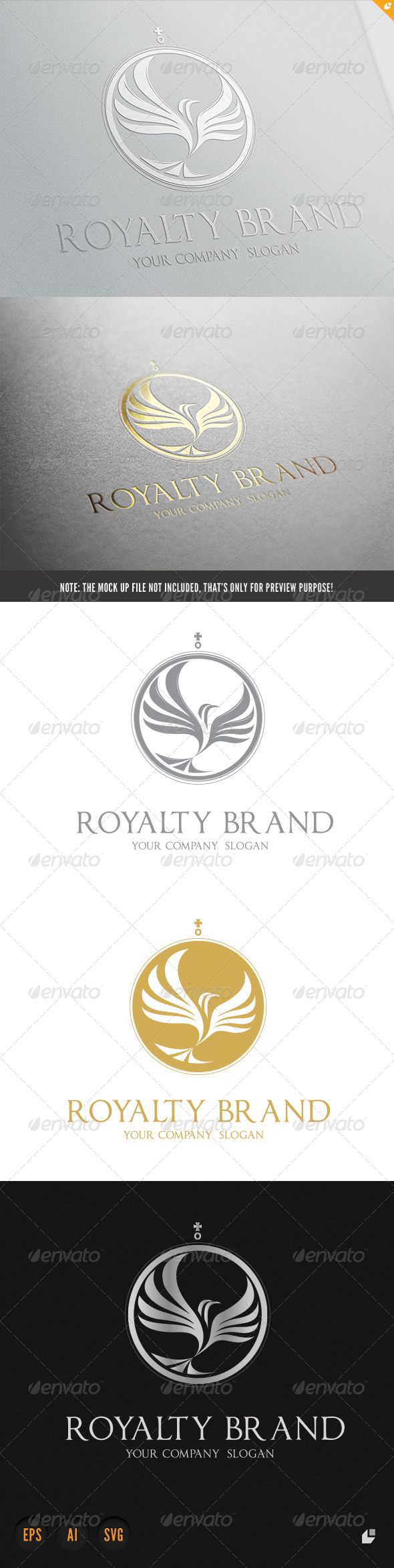 Royalty Brand - Crests Logo Templates