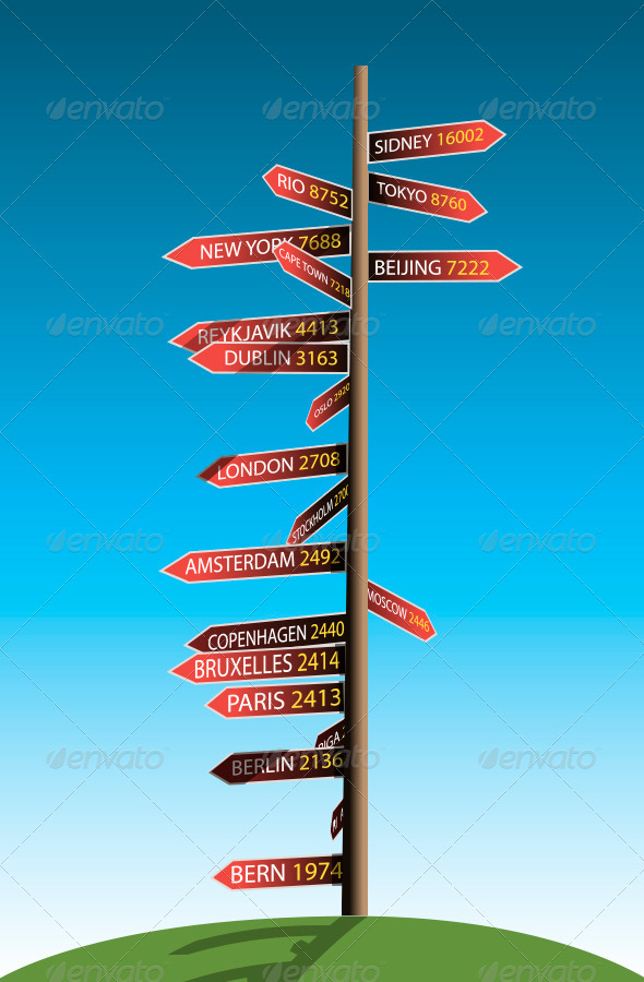 Guidepost - Travel Conceptual