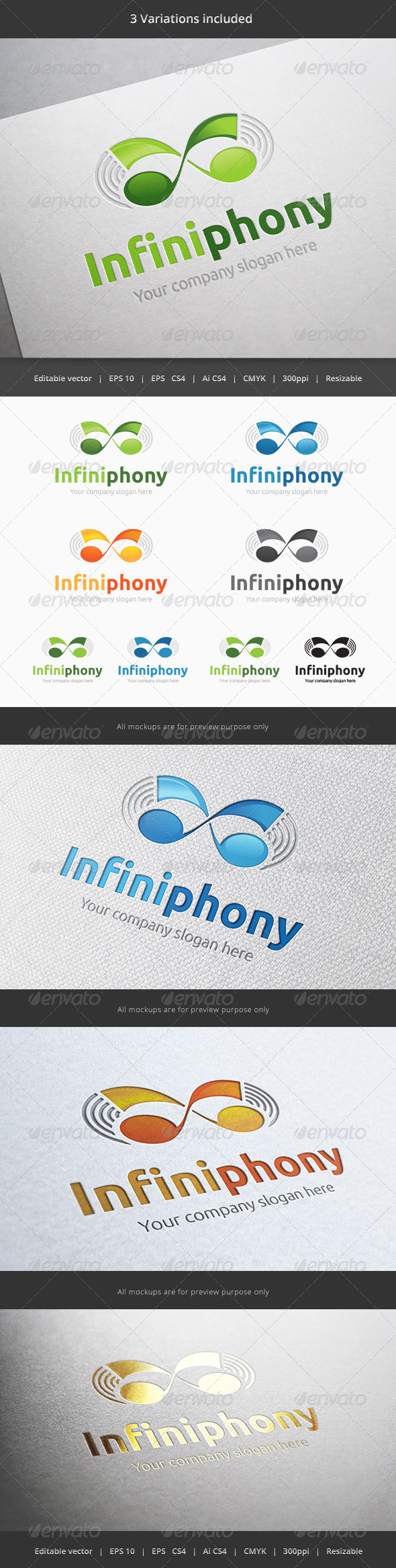 Infinity Symphony - Objects Logo Templates
