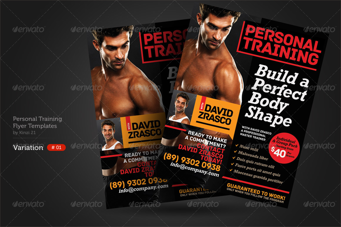 personal training flyers by kinzi21 graphicriver