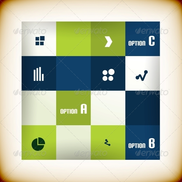 Modern Square Business Banner Design Template - Backgrounds Business