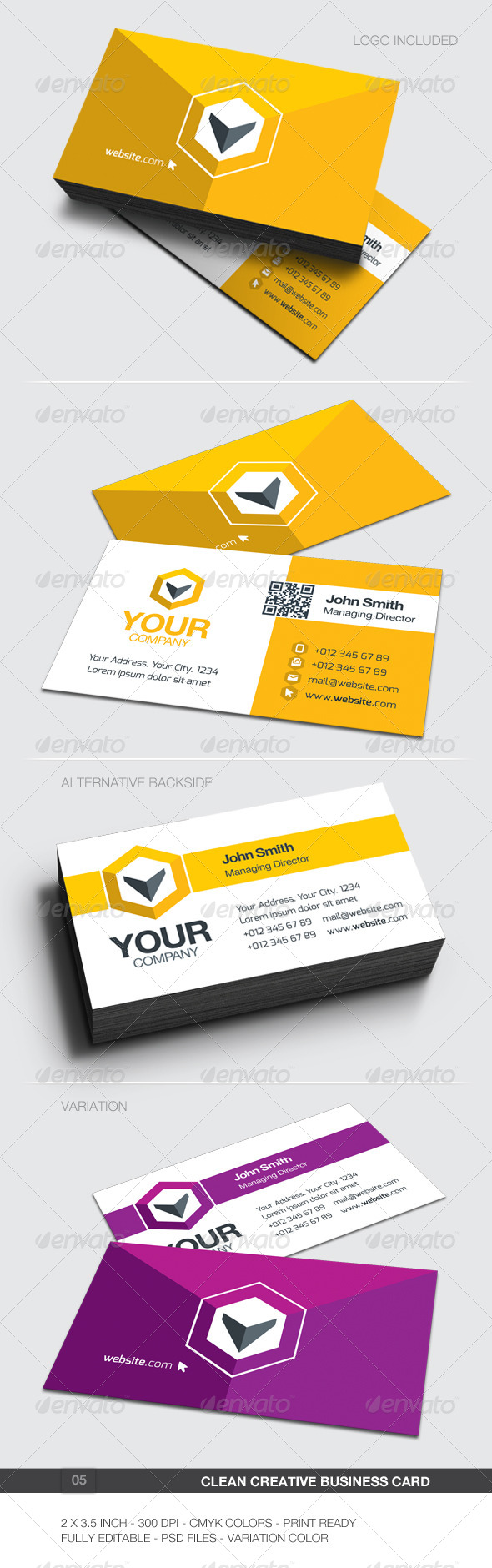 Clean Creative Business Card - 05 - Creative Business Cards