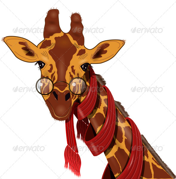 Giraffe in a Scarf - Animals Characters