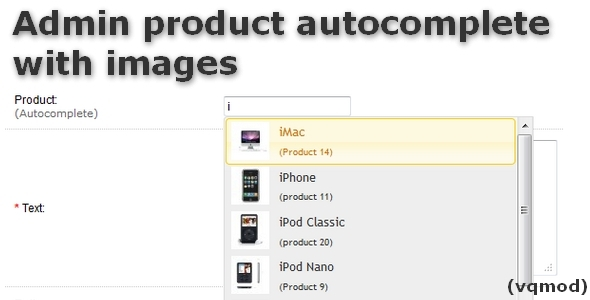 Admin Products Autocomplete with Images - CodeCanyon Item for Sale