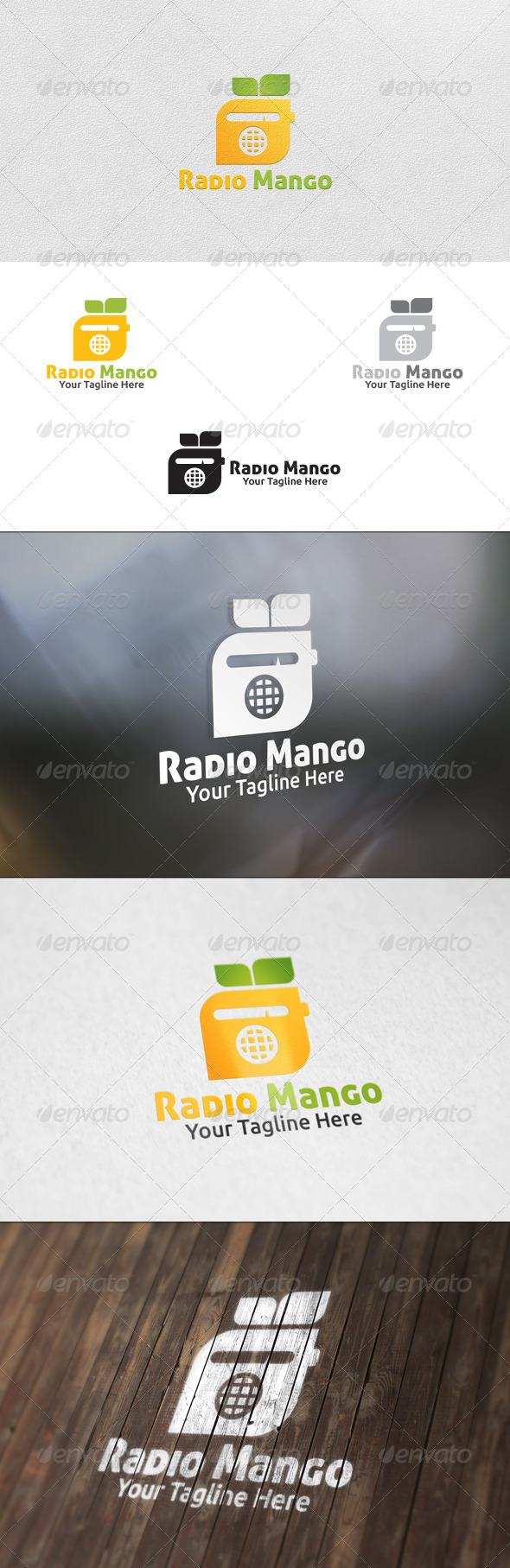 Radio Mango - Logo Template - Nature Logo Templates