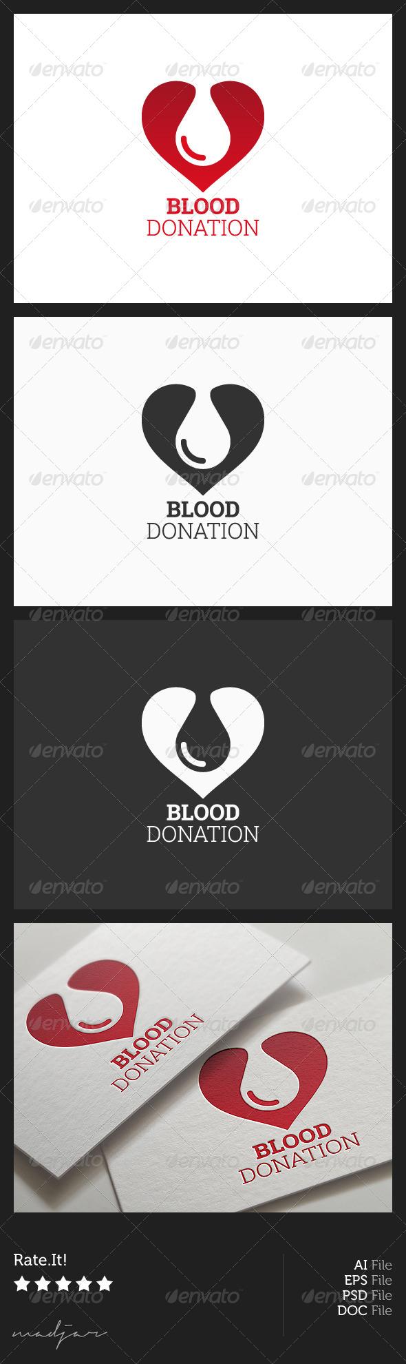 Blood Donation Logo - Objects Logo Templates