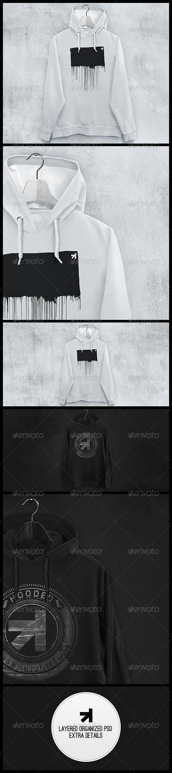 Hoodie Sweatshirt Mockup - Miscellaneous Apparel