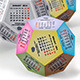 Calendar 2014 - Dodecahedron - GraphicRiver Item for Sale