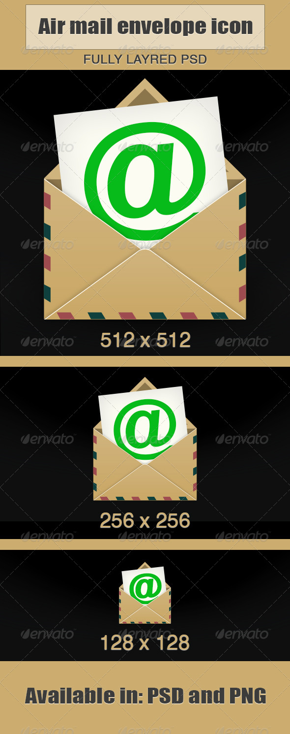 Air Mail Envelope Icon  - Web Icons