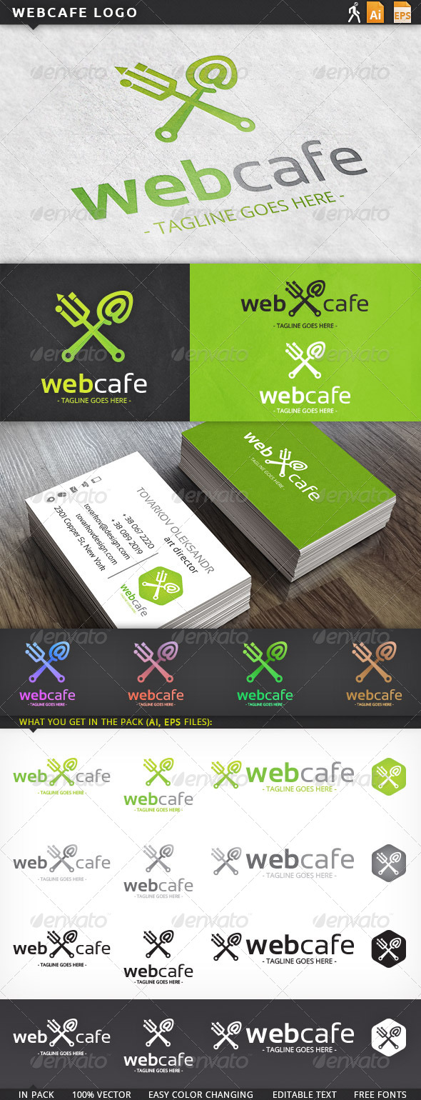 Web Internet Cafe Logo Template - Objects Logo Templates