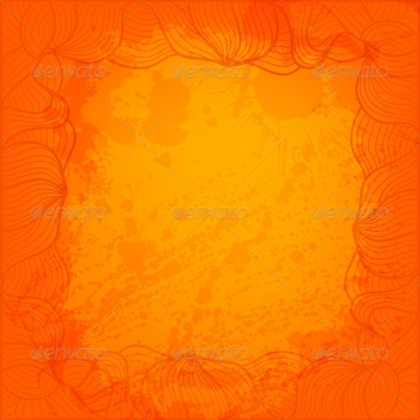 Abstract Background with Hand Drawn Frame - Backgrounds Decorative