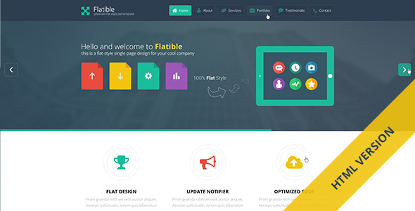 Flatible – Single Page HTML5 Template