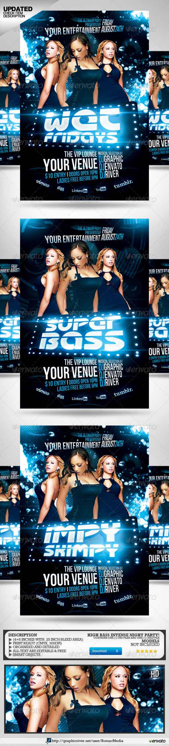 Super Bass Party Flyer - Clubs & Parties Events
