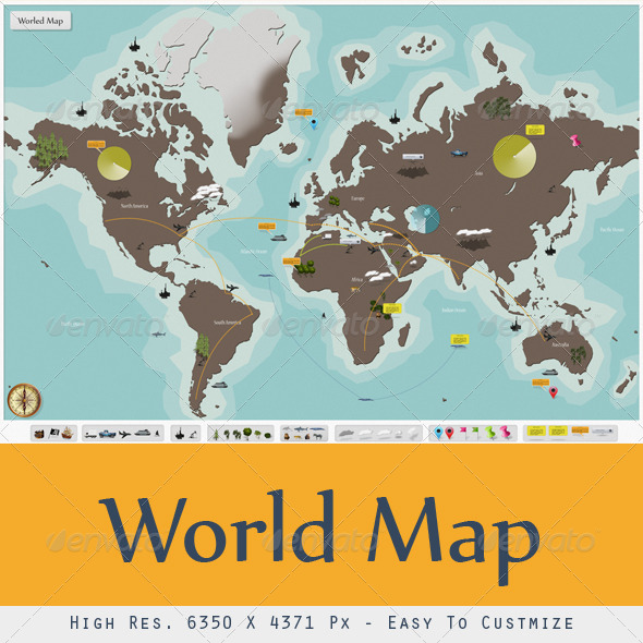 I World Map - Miscellaneous Backgrounds