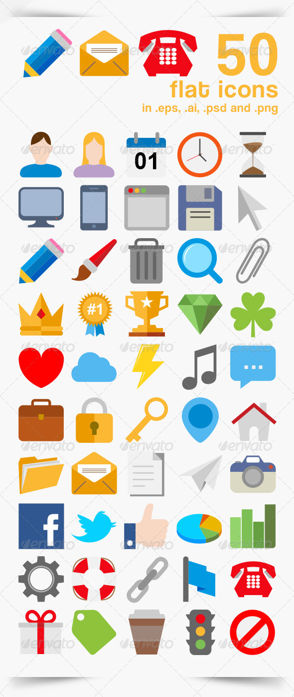 50 Vector Icons - Icons