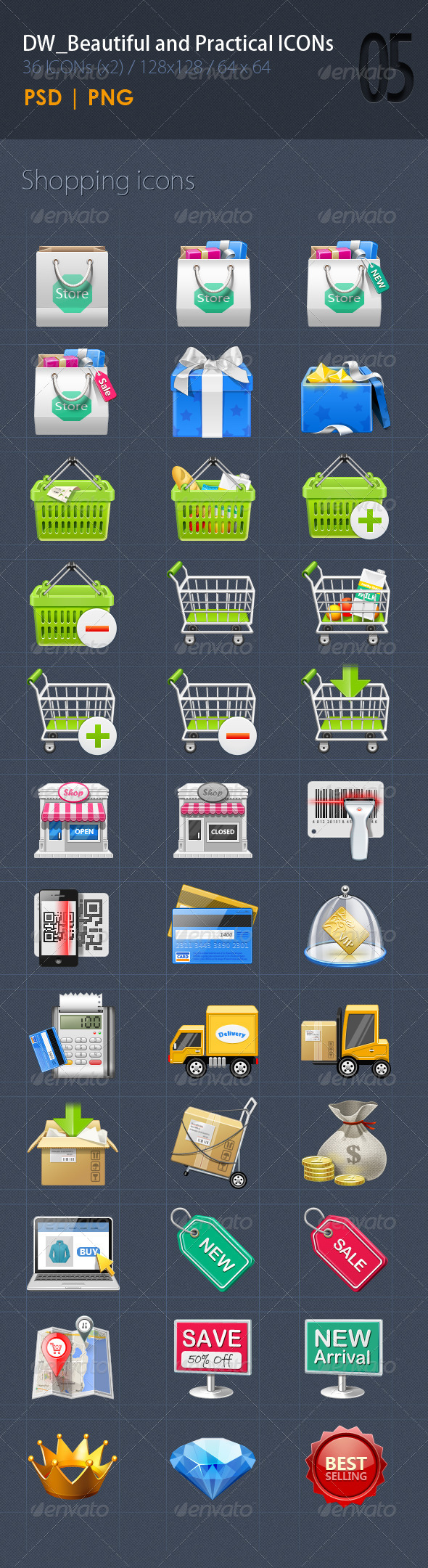 36 Shopping ICON - Icons