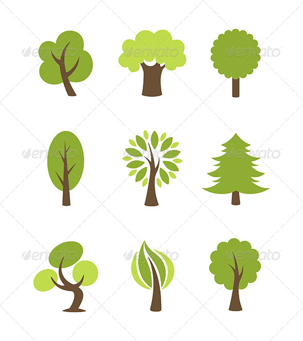 Tree Icons Set - Miscellaneous Icons