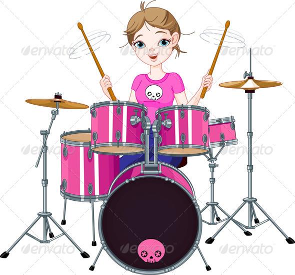 Drummer Girl - People Characters