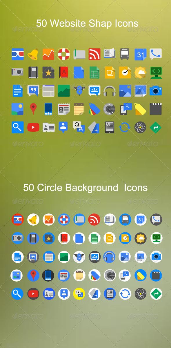 Website Shape Icons - Icons