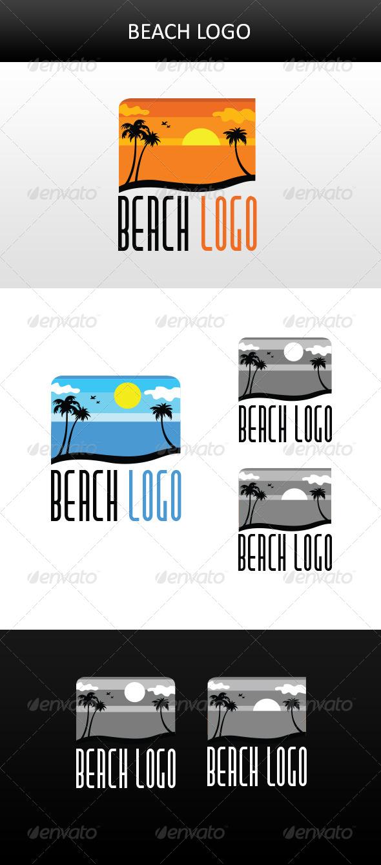 Beach Logo - Nature Logo Templates