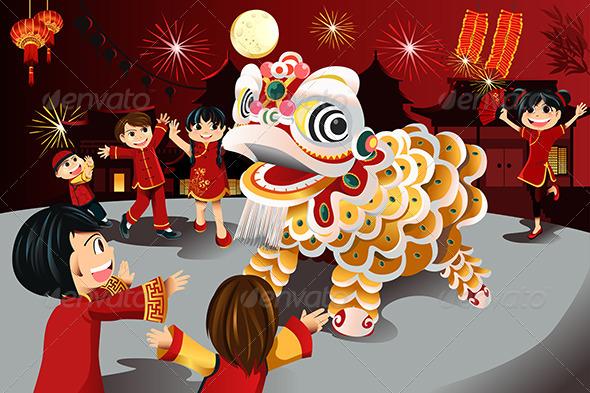 Chinese New Year Celebration - Seasons/Holidays Conceptual