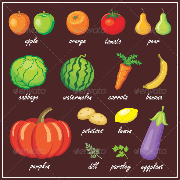 Vegetables and Fruits - Food Objects