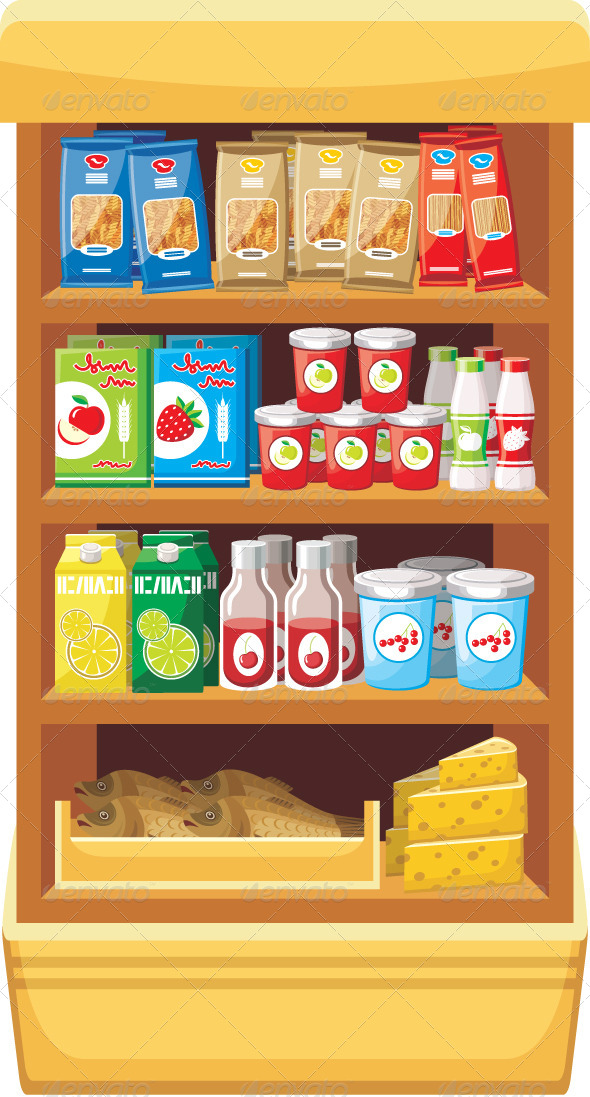 Supermarket. Products - Food Objects