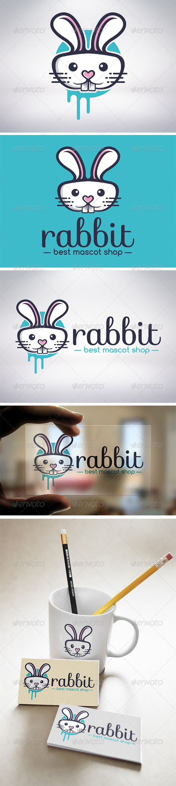 Rabbit Logo - Animals Logo Templates