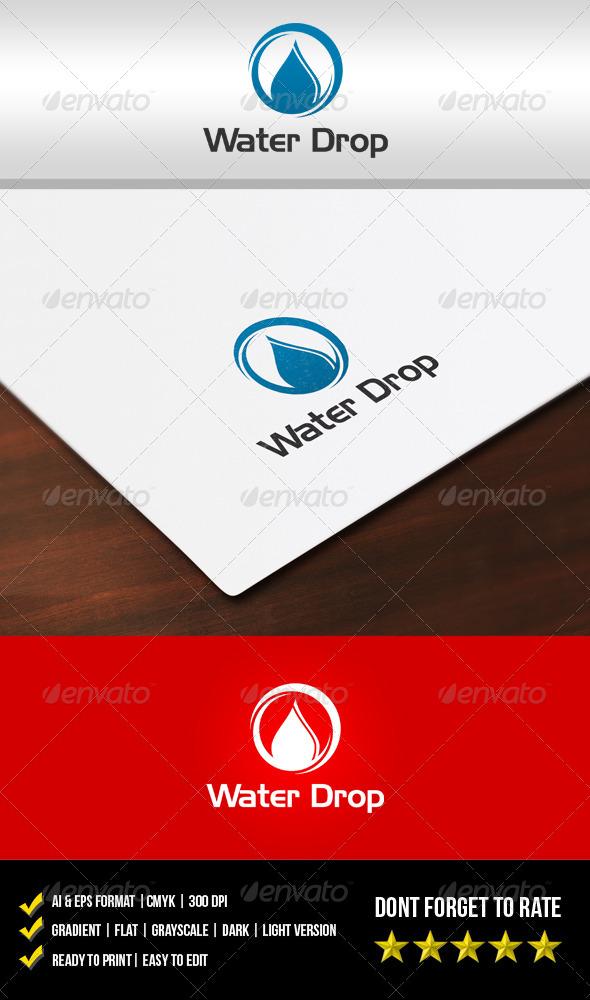 Water Drop Logo - Nature Logo Templates