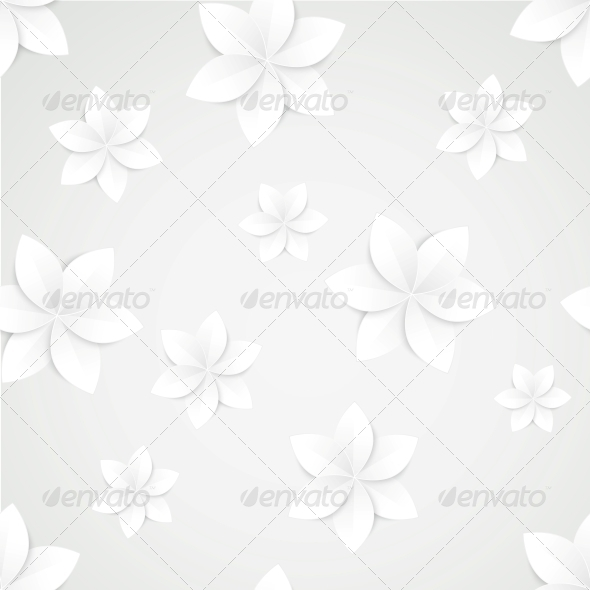 Paper Floral Background. - Flowers & Plants Nature