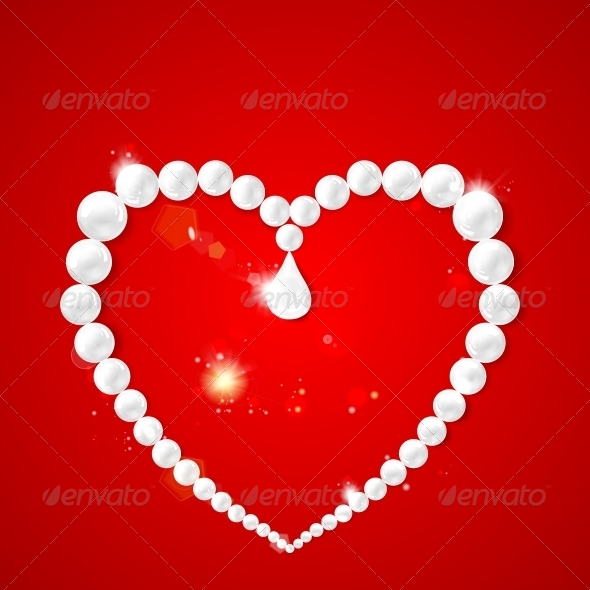 Heart Frame with Pearls - Valentines Seasons/Holidays