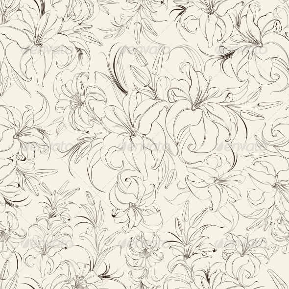Seamless Ttexture of Lilies - Flowers & Plants Nature