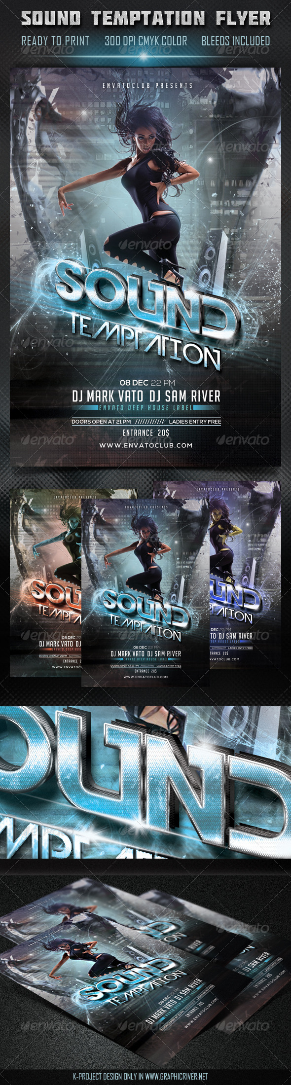 Sound Temptation Flyer - Clubs & Parties Events