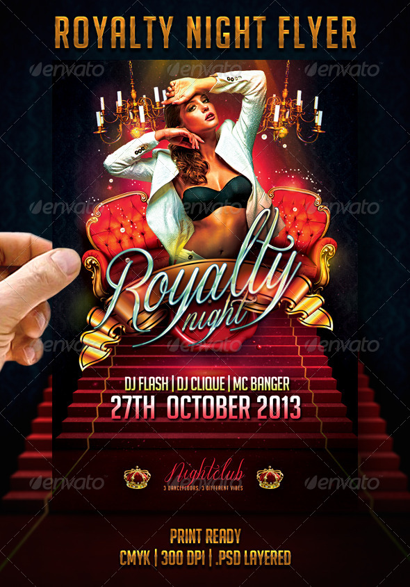 Royalty Night Flyer - Events Flyers