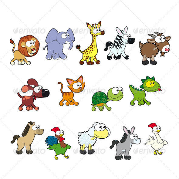 Group of Animals - Animals Characters