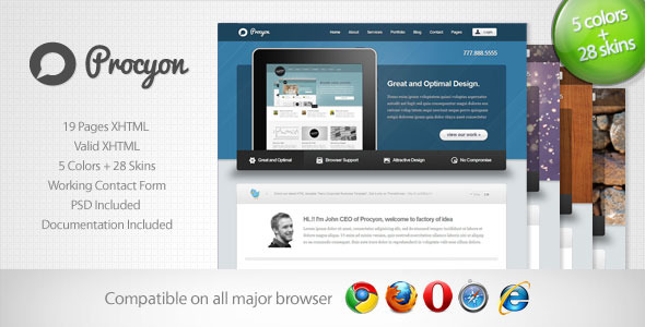Free Download Procyon - Corporate Business Template 6 Nulled Latest Version