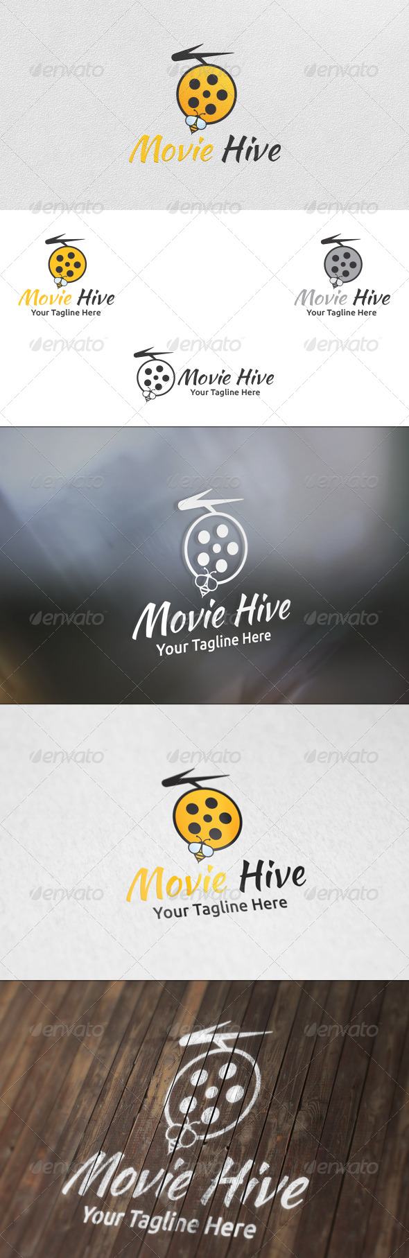 Movie Hive - Logo Template - Nature Logo Templates
