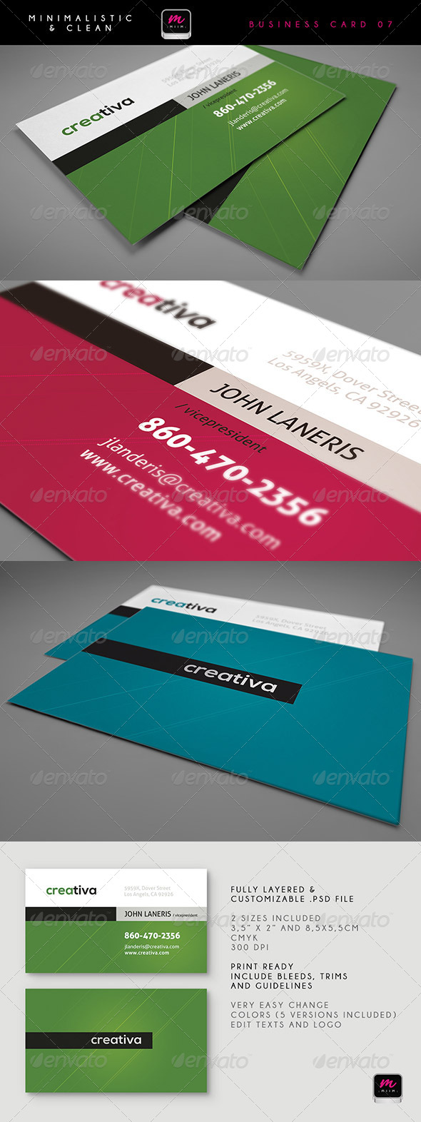 Clean Business Card Template 07 - Corporate Business Cards