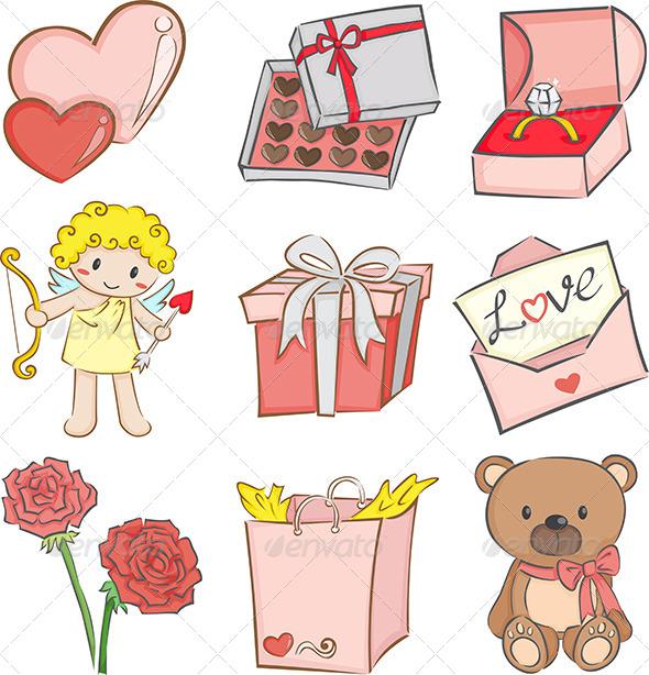 Valentine icons - Icons