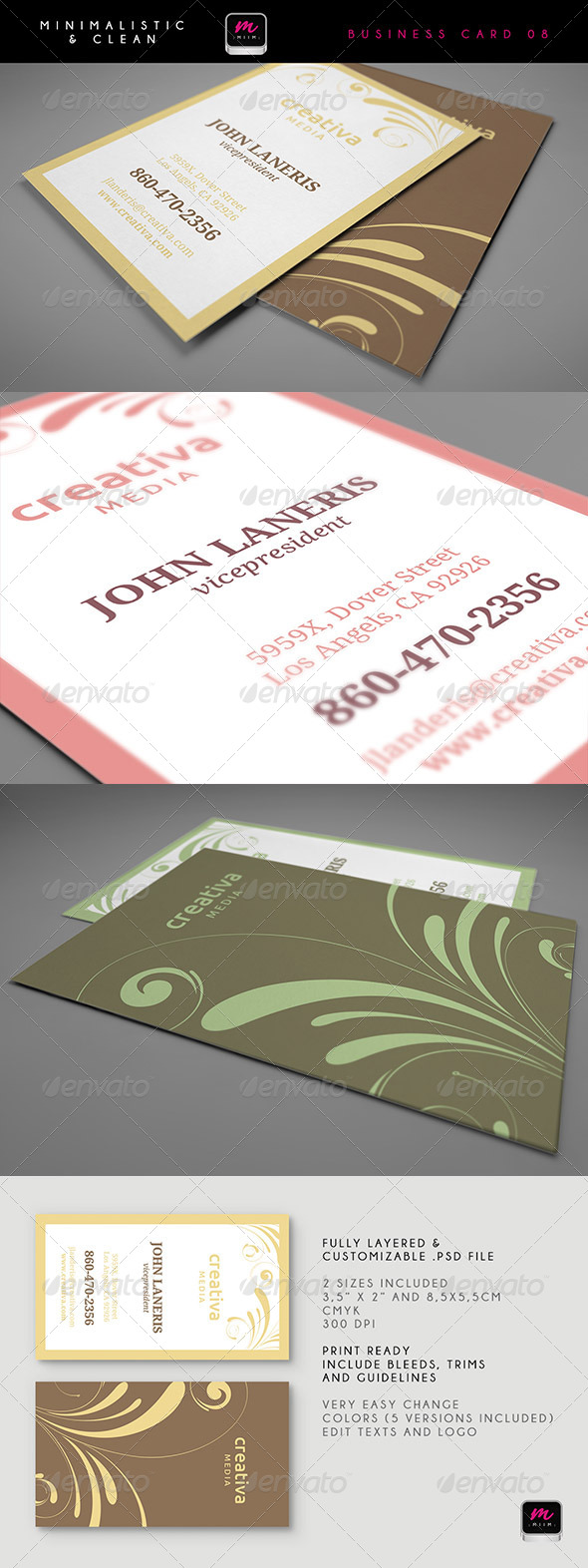 Clean Business Card Template 08 - Corporate Business Cards