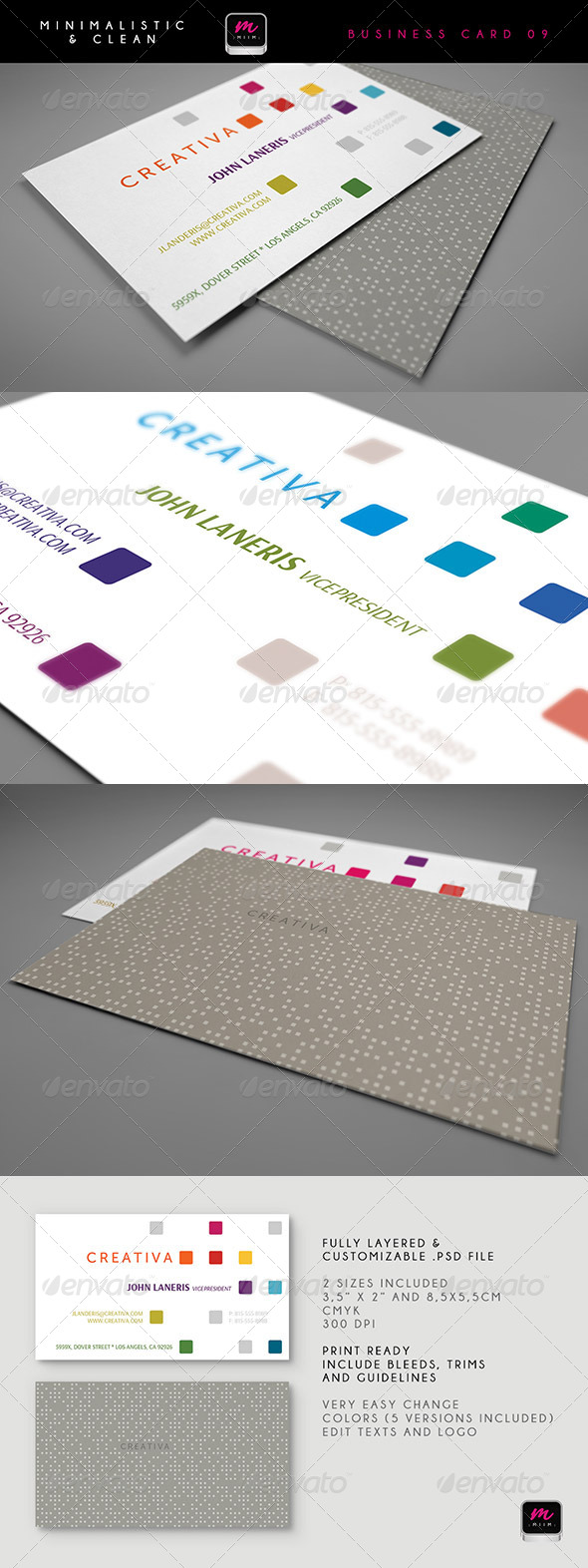Clean Business Card Template 09 - Creative Business Cards