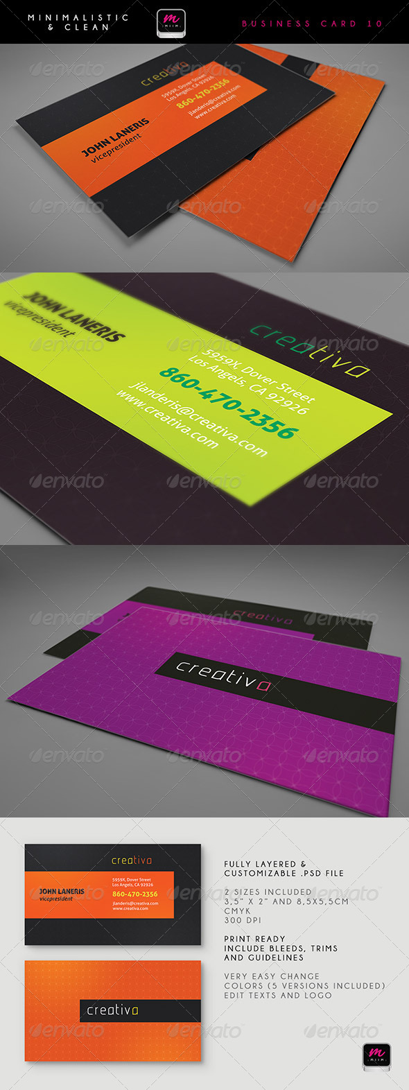 Clean Business Card Template 10 - Corporate Business Cards