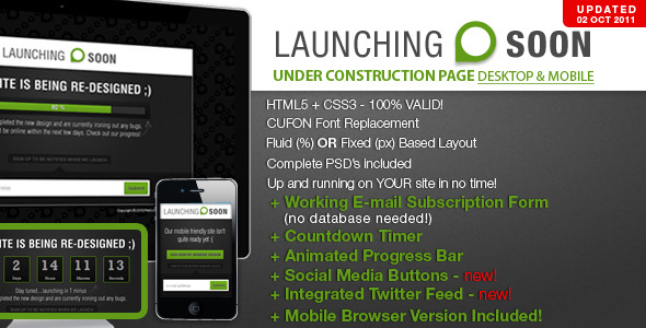 Launching Soon - Under Construction Page - Launching Soon Preview