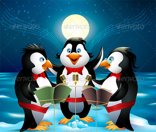 Night Song of Penguins - Animals Characters