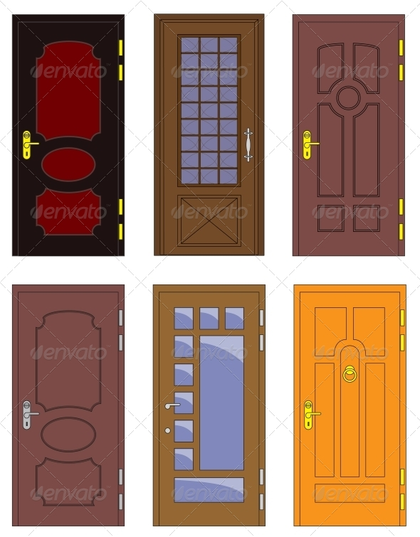 Classic Interior and Front Wooden Doors - Buildings Objects