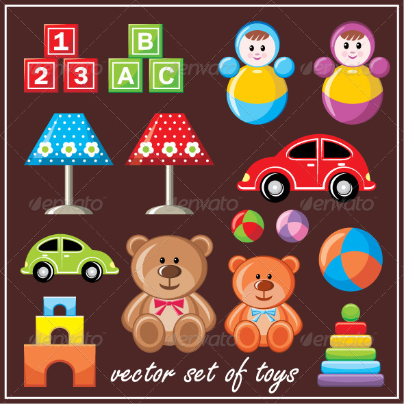 Set of Toys - Objects Vectors