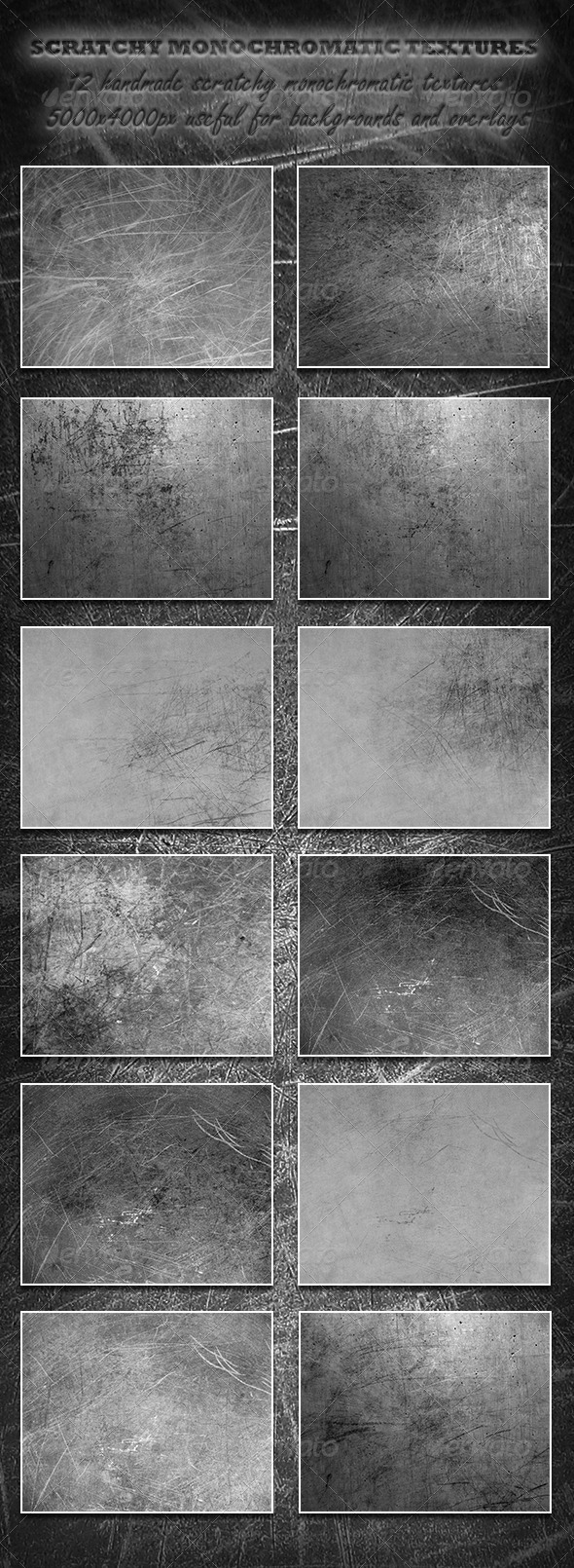 Scratchy Monochromatic Textures - Abstract Textures
