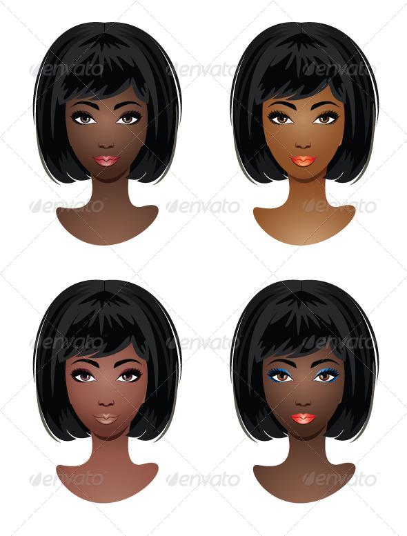 Makeup for African-American Women - People Characters